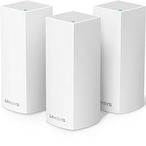 Linksys Velop Tri-band Whole Home WiFi Mesh System, 3-Pack (coverage up to 6000 sq. ft), Router Replacement for Home Network, Works with Amazon Alexa
