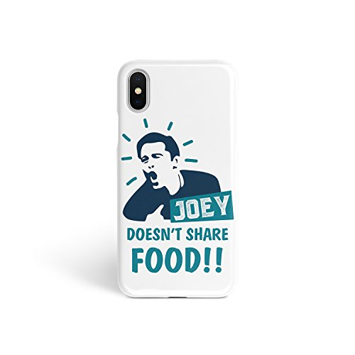 ZVStore Friends Show Joey Doesn't Share Food Glossy iPhone Full Wrap Shockproof Plastic Sublimation Hard Shell Print Joey Motto TV Series Classic with Sides Printed for (iPhone 5C)