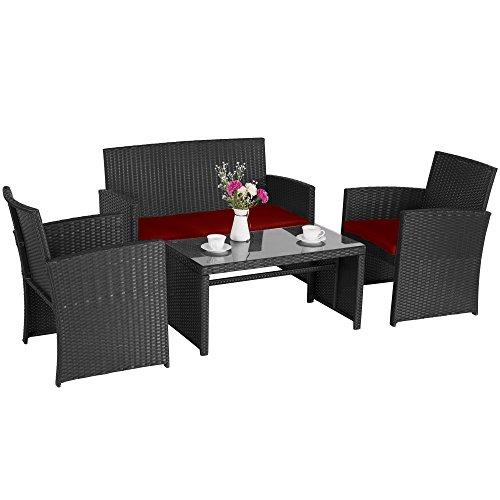 Cloud-Mountain-4-Piece-Rattan-Furniture-Set-Patio-Conversation-Set-Sectional-Wicker-Rattan-Furniture-Outdoor-Garden-Lawn-Sofa-Cushioned-Set