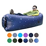 ORSEN Inflatable Lounger Portable Hammock Air Sofa with Water Proof,Anti-Air Leaking Design,Ideal Inflatable Couch and Beach Chair Camping Accessories for Parties Picnic&Festival (Starry sky-01)