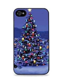 Christmas Tree for iPhone 4 / 4S Silicone Case- Black -