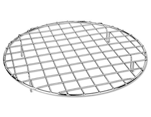 Dutch Oven Rack - Bafvt BBQ Accessories Grill Rack - 304 Stainless Steel Baking Cooking Round Rack for Rib Cookie Cakes, 10 Inches