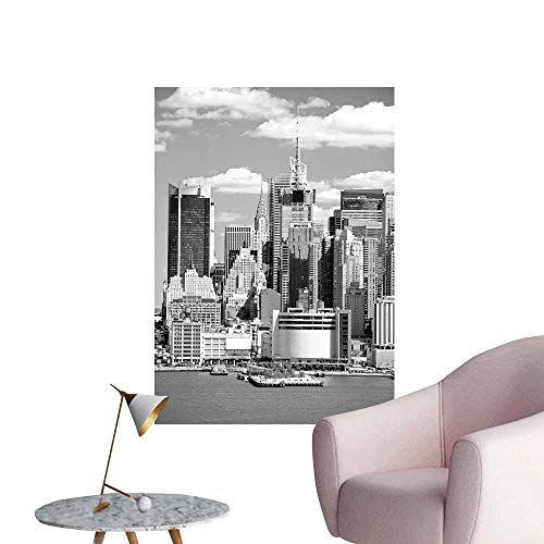 SeptSonne Vinyl Wall Stickers The mi Town Skyline viewe from New Jersey Side Perfectly Decorated,12