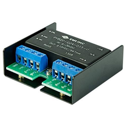 20 W, 4:1 Input Range, Single/Dual Regulated Output, Chassis Mount, 1500 Vdc Isolation, Dc-Dc Converter - 15 Vdc, 1.33 A, 20 W, 18~75 Vdc Input Range - PYB20-Q48-S15-H-U