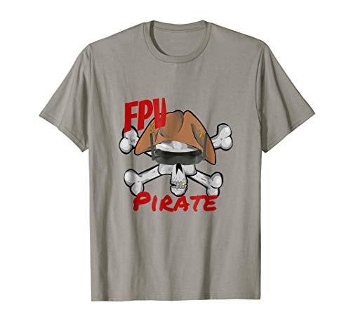 Mens Drone Racing FPV Pirate Funny Skull Goggles Flying t-Shirt