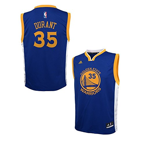 Blue Adidas Nba Jersey - Kevin Durant Golden State Warriors NBA Youth Adidas Replica Blue Jersey, Large (14-16)
