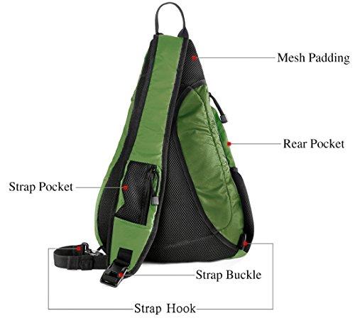 Shoulder Chest Crossbody Sling Bag Pack Backpack for Men Women Girls Boys (Green)