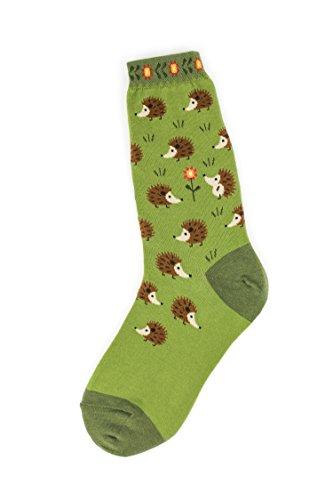 Foot Traffic -Women's Animal-Themed Socks, Hedgehog (Shoe Sizes 4–10)
