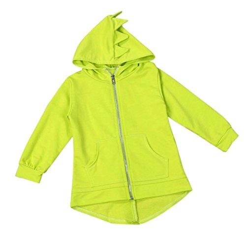 PHOTNO Outwear Dinosaur Costume Toddler Children Kid Baby Girl Boys Hooded Hoodie Long Sleeve Coat Jacket (1-6T) (140 (6T), (Round Girl Costume)