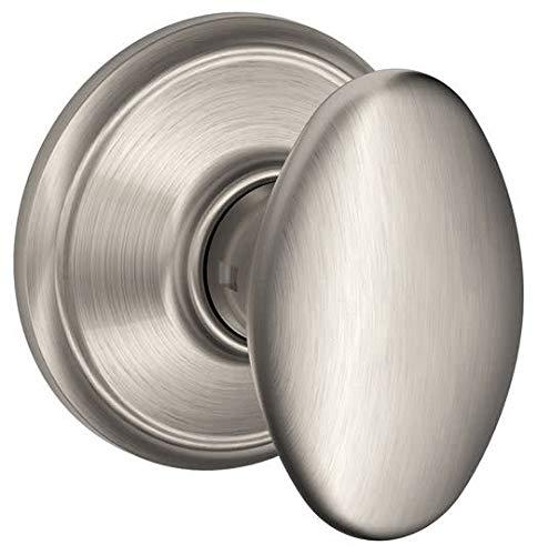 Schlage F10 SIE 619 16-080 10-027 Siena Hall and Closet Knob, Satin Nickel