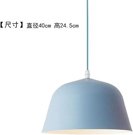Beakjiful E27 Pendant Light European Single Head Bar Study Kitchen Pendant Light Blue Large - - Amazon.com