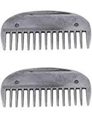 Baosity 2pcs Stainless Steel Horse Curry Comb for Horse Tail Mane Curry Cleaning Kit
