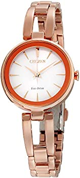 Citizen Eco-Drive Womens White Dial Stainless Steel Bracelet Watch