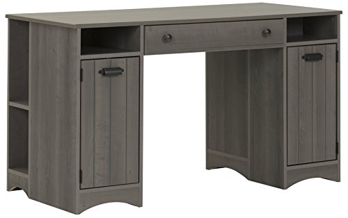 Artwork Craft Table with Storage - Large Work Surface - Multiple Storage Spaces - Gray Maple by South Shore (Glass Maple Dresser)