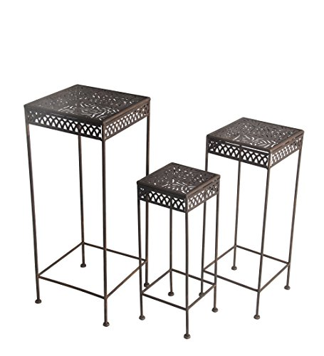 Square Iron Plant Stands - 4