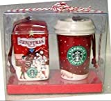 Starbucks Christmas Ornaments - Ceramic Mini Red Cup and Bag of Christmas Blend Coffee - Set of Two – 2007