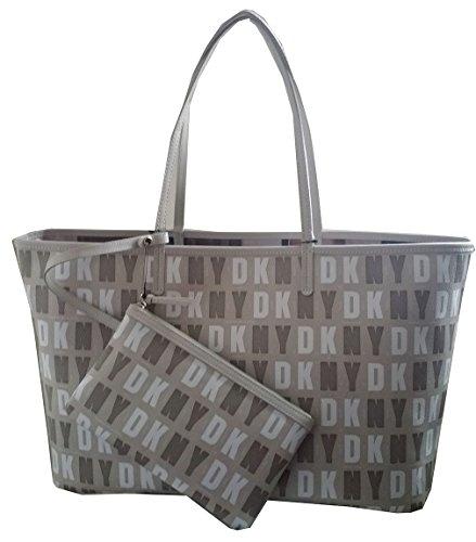 Dkny Donna Karan New York Coated Logo Reversible Tote Shopper Handbag Purse Beige from DKNY