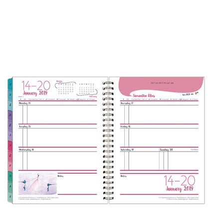 Clutch Her Point of View Weekly Wire-Bound Planner - Jan 2019 - Dec - View Weekly Point Of Her