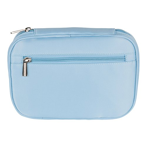 Lily & Drew Travel Jewelry Storage Carrying Case Jewelry Organizer Removable Pouch (V1 Light Blue) by Lily & Drew (Image #5)