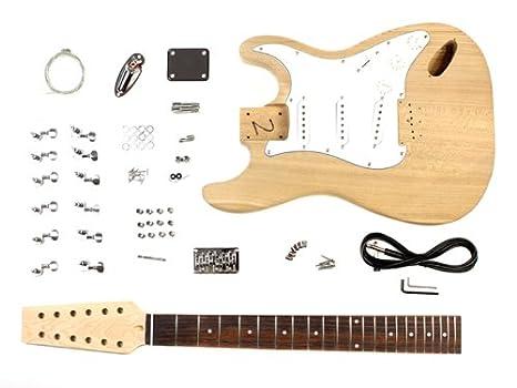 12 cuerdas de la guitarra eléctrica DIY Kit Estilo ST Proyecto con Ash Cuerpo: Amazon.es: Instrumentos musicales