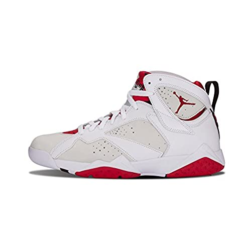 Nike Mens Air Jordan 7 Retro Hare White/True Red-Light Silver Leather Size  9.5