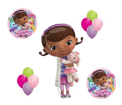 Doc McStuffin and Lambie Mylar Latex Happy Birthday Balloon Set Bouquet Disney]()