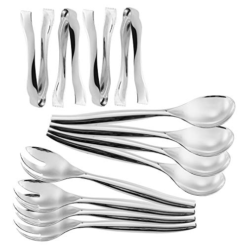 Set of 12 - Disposable Plastic Serving Utensils,Heavy Duty, Four 10