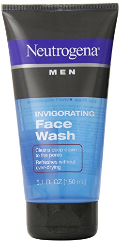 Neutrogena Men's Invigorating Daily Foaming Gel Face Wash, Energizing & Refreshing Oil-Free Facial Cleanser for...