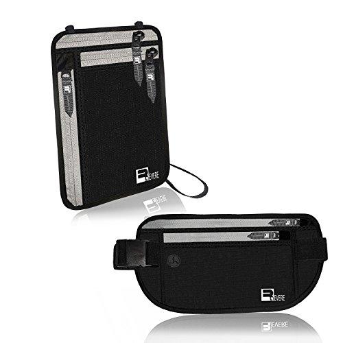 Waist Travel Belt Money Passport Wallet Pouch Ticket Bum Bag Black - 1
