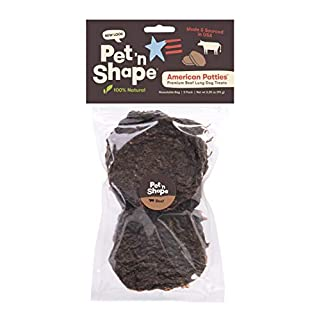 Pet 'n Shape All American Beefy Patty Dog Treats – Made and Sourced in The USA, 3.35 oz (5 Pack)