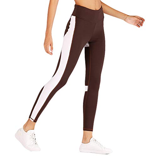 - SOthread(TM) Ladies'high Waist and Hip Digital Printed Bottoms Running Fitness Yoga Pants High Waist Pants with Pockets Coffee