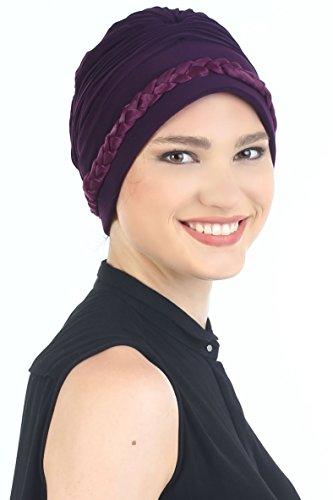 Treccia di Perdita Porpora Cappello Davanti Headwear Capelli la Deresina per Colore CqStY