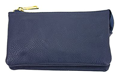 PROYA Collection Classic Soft-Leather Mini All-in-one Wristlet Organizer Wallet