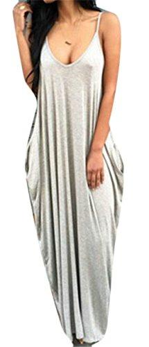 Color Pleated Hem Dress Domple Womens Spaghetti Pure Chiffon Stylish Strap Gray Mini Irregular wSCFCIqx