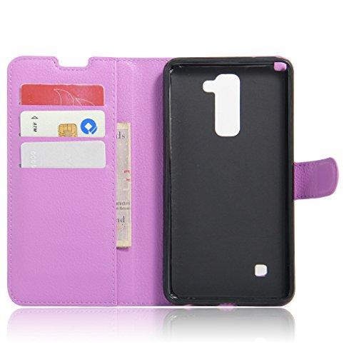 Funda LG stylus 2,Manyip Caja del teléfono del cuero,Protector de Pantalla de Slim Case Estilo Billetera con Ranuras para Tarjetas, Soporte Plegable, Cierre Magnético D