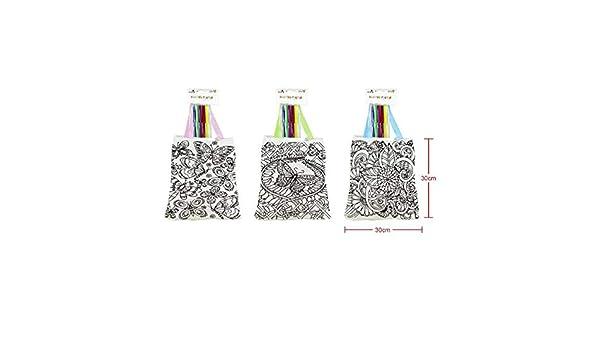 Lote de 3 bolsas para colorear con pinturas de cera incluida ...