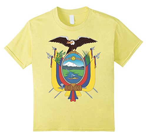 Kids Ecuador Coat Of Arms T Shirt National Ecuadorian Emblem tee 6 Lemon - Ecuador Coat