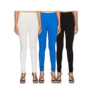 Amazon Brand – Tavasya Women's Legging Chudidar Bottom (Combo Pack of 3)