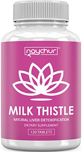 Milk Thistle Liver Detox Cleanse Liver Support – Cardo Mariano Milk Thistle Extract Seed Powder (80% Silymarin…