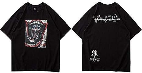GVDFSEYL Camiseta de Gran tamaño para Hombre Hip Hop Streetwear Devil Joker Camiseta Harajuku Summer Camiseta de Manga Corta Camisetas de algodón Camisetas Hipster: Amazon.es: Deportes y aire libre