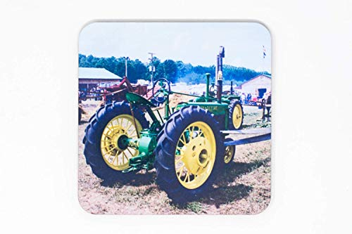 Vintage Tractor Coaster Set, Glossy Hardboard, Hand Imprinted Photo ()