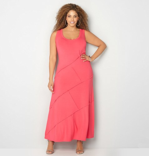 AVENUE-Womens-Exposed-Seam-Maxi-Dress