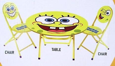 Spongebob Squarepants 3-Peice Table and Chair  sc 1 st  Amazon.com & Amazon.com: Spongebob Squarepants 3-Peice Table and Chair: Kitchen ...