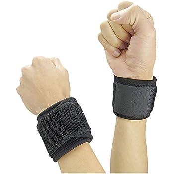 Adjustable Compression Wrist Strap/Wrist wrap/Wrist Brace/Wrist Support - Weight Lifting, Xfit, Powerlifting, Strength Training,Volleyball Badminton Tennis ...