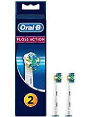 Oral-B Floss Action Replacement Electric Toothbrush Heads Refills, 2 pack