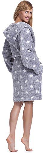 L&L Albornoz para Mujer con Capucha Darcy Short Melange/Blanco estrella