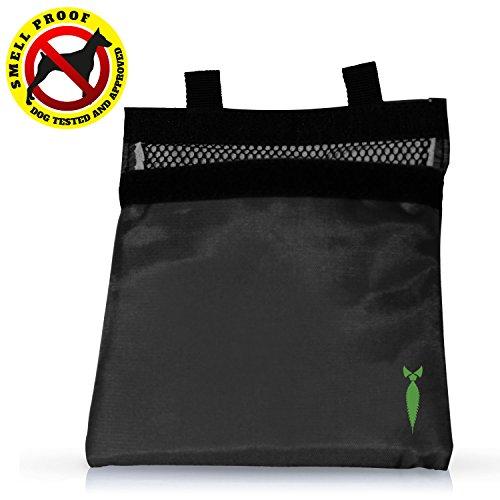 Discreet Smoker - 7x6 Smell Proof Bag Dog Tested (Black)