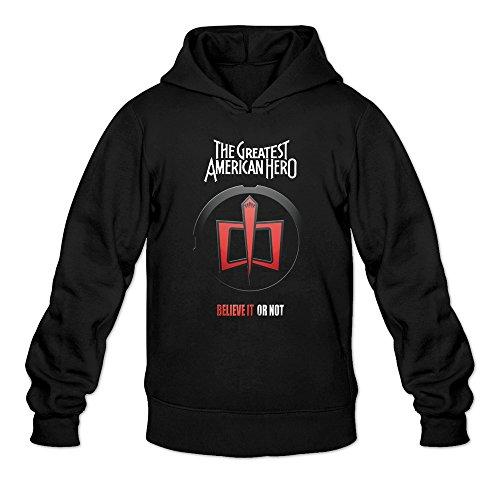Men's The Greatest American Hero TV Show Series Logo Hoodie Black XX-Large