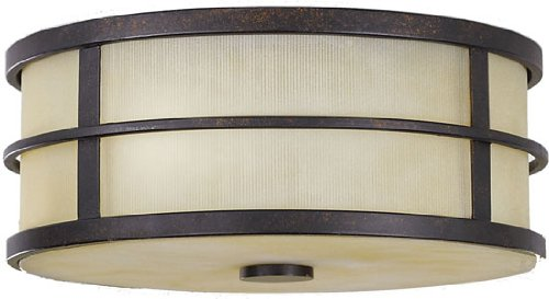 Murray Feiss MF FM256 Fusion 2 Light Flush Mount Ceiling Fixture, Grecian Bronze