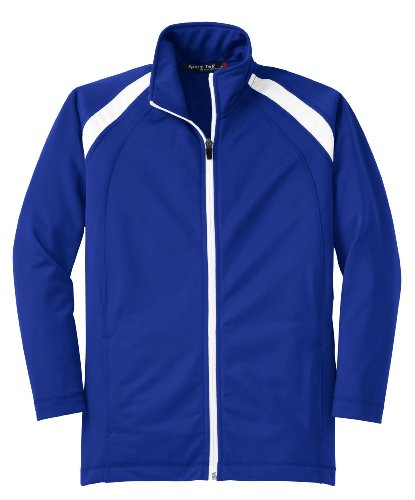 Sport-Tek Youth Tricot Track Jacket>XL True Royal/White YST90 by Sport-Tek